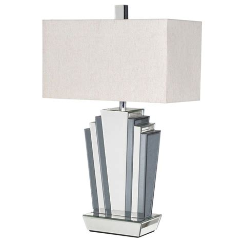 Art Deco Mirrored Odeon Table Lamp