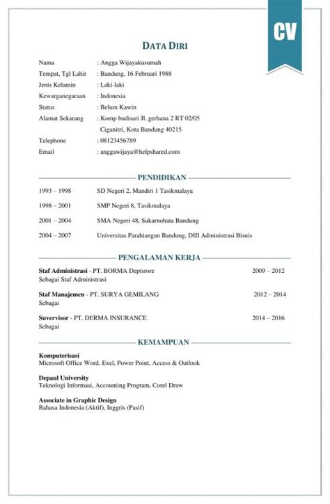 cara membuat cv delighted cara membuat resume ringkas images exle
