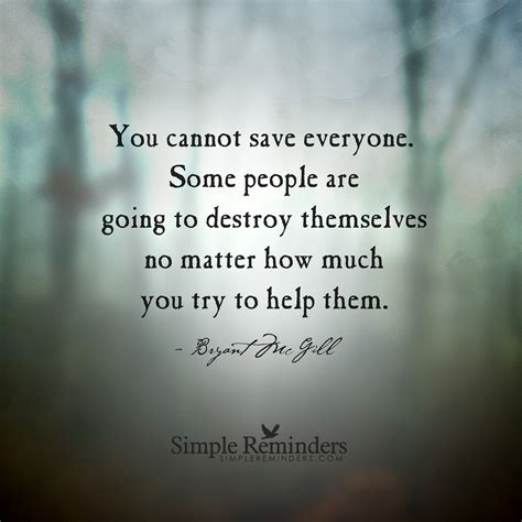 themselves or them selves you cannot save everyone some ar by bryant h