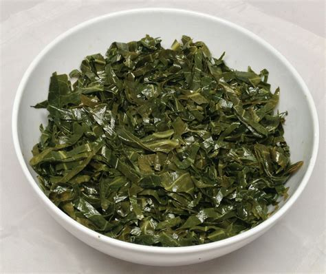 buttered slivered collard greens low carb gluten free