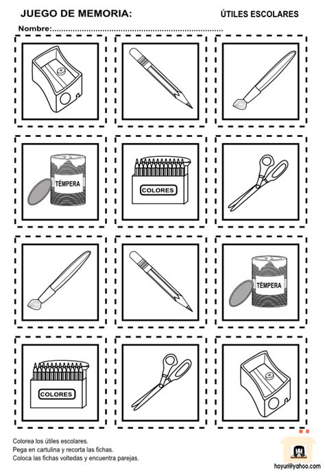imagenes de utiles escolares en ingles para imprimir imagenes de utiles escolares para recortar imagui