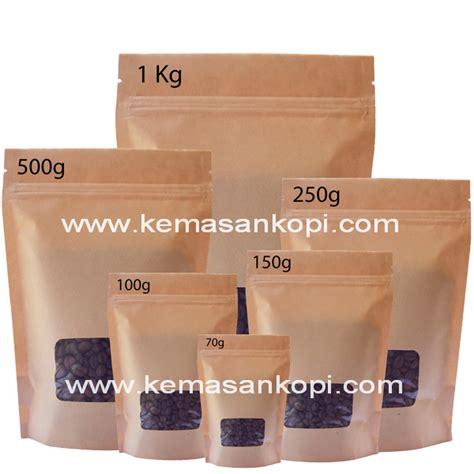 Stand Pouch Zipper 60g Kemasan Kopi Beras Gula Cairan Wf Suzp1016 Tr kraft paper stand up pouch jpw packaging