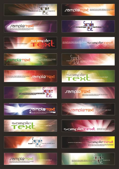 free flash banners templates for websites 20 of the symphony web banner background template vector