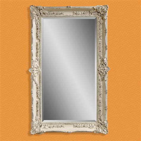 furniture antique white wall leaning floor mirror for