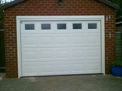 White Georgian Sectional Garage Door Abbey Garage Doors White Garage Door