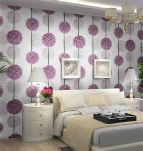 aliexpress buy purple flower 3d wallpaper modern pvc