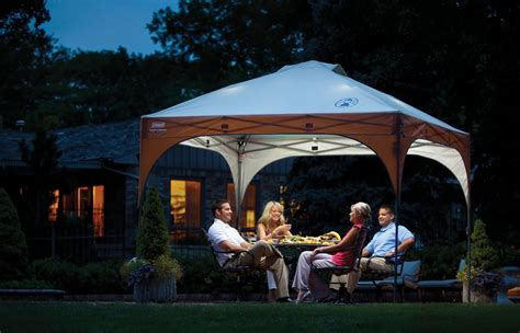 cool coleman 10x10 canopy with led lighting system