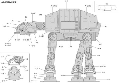 Papercraft At At - jedi ferlu mocas papercraft wars
