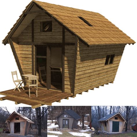 country cabins plans pentagon cabin plans