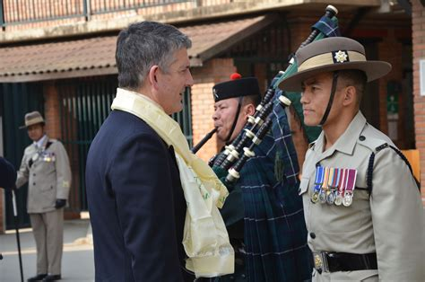 colonel commandant brigade  gurkhas visits british