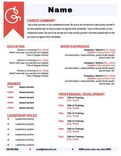 Standout Resume Templates by Career On Resume Templates Resume Design And Resume