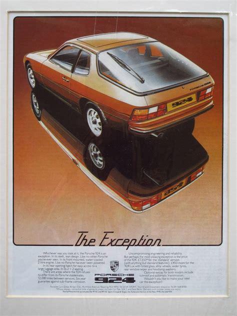 retro porsche custom porsche 924 advert 1978 loved this car till i totaled it