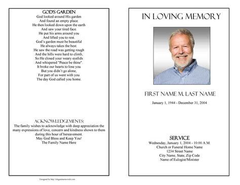 funeral program templates funeral programs plain