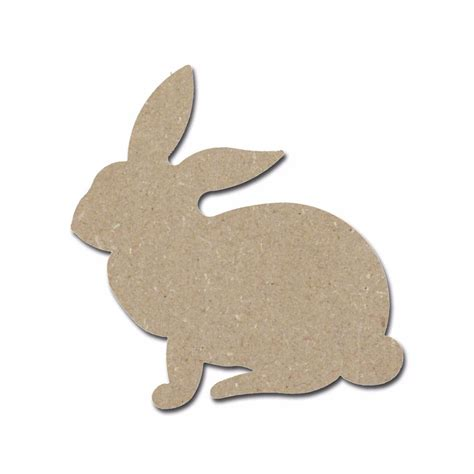 rabbit cuts woodworking rabbit shape wood cut out unfinished wooden easter bunny
