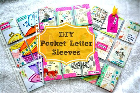 make your own card sleeves make your own pocket letter sleeves craft made simple