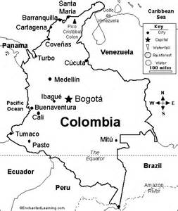 geography blog colombia outline maps