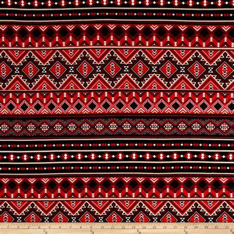 aztec print upholstery fabric ponte de roma aztec print red black discount designer