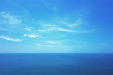 blue clear sky free photo water sea blue sky clear free
