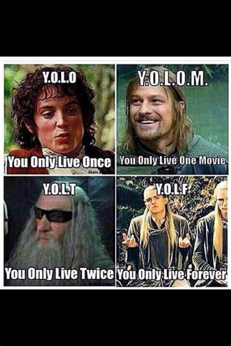 The Lord Of The Rings Memes - yolo according to lord of the rings middle earth