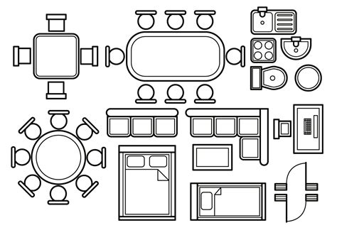 floor plan vector download free vector art stock