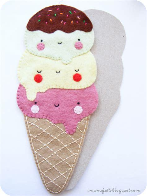 felt pattern tutorial diy kawaii felt ice cream free pattern and tutorial