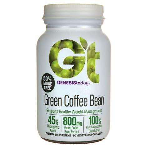 Green Coffee Bean 60 Vege Caps Swisse genesis today green coffee bean 800 mg 90 veg caps
