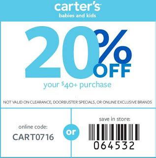 printable coupons for carters outlet carters printable coupons july 2017 coupons 2018
