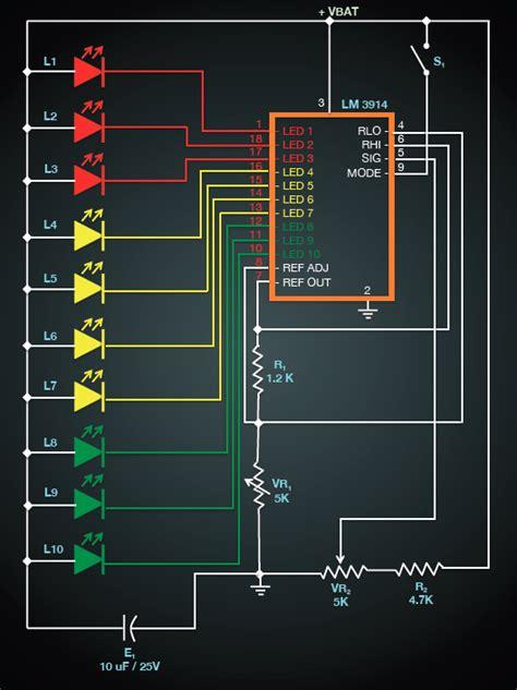 led battery voltage indicator circuit clemson vehicular electronics laboratory battery voltage level indicator