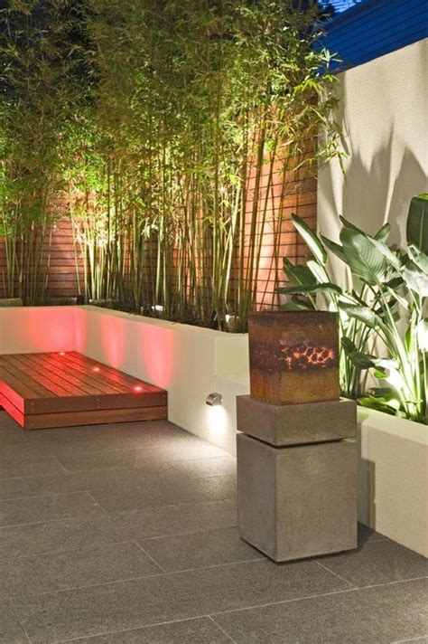 Contemporary Landscape Lighting Bamboo Garden Design Ideas Small Garden Ideas