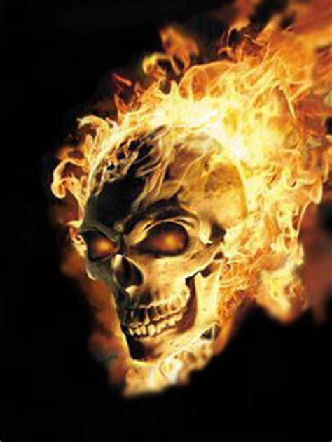 burning ghost skull    wallpapers