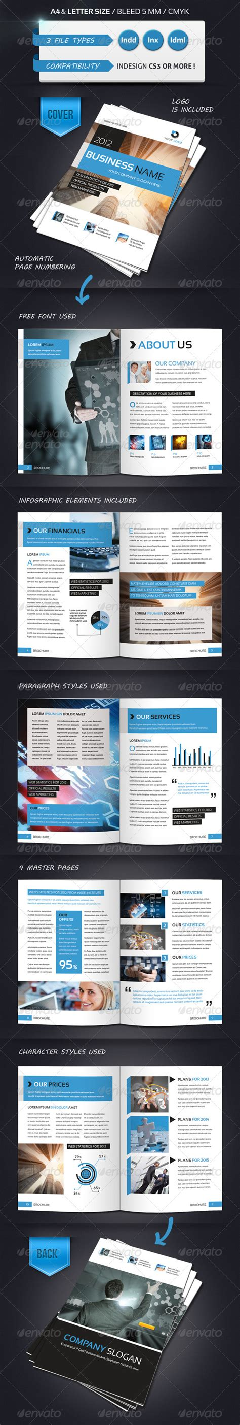 12 page brochure template modern brochure template a4 12 pages graphicriver