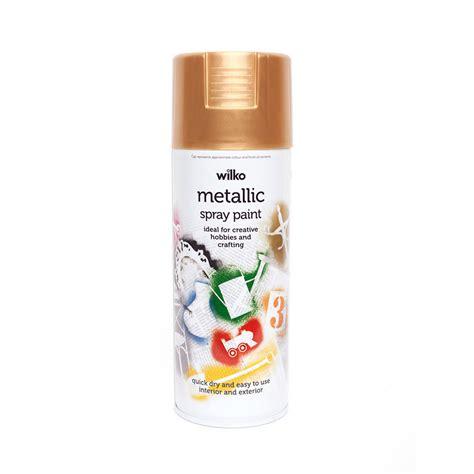 spray paint gold wilko metallic spray paint gold 400ml at wilko