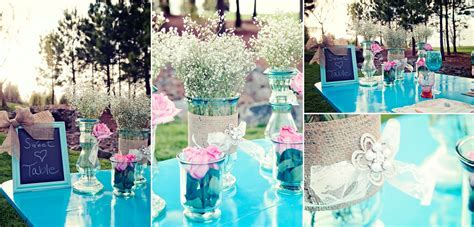 Pink & Turquoise Shabby Chic Wedding Inspiration   Every