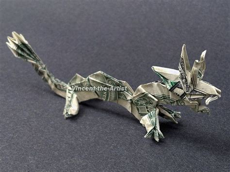 money origami animal creature made of real dollar