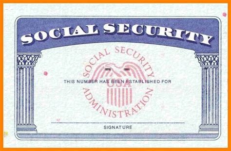 social security card template photoshop all about letter
