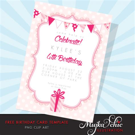 personalized birthday card templates free free printable birthday card template mujka clipart