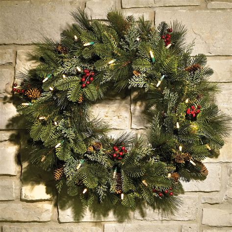 decorated cordless prelit holiday trim hammacher