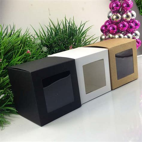 window cake boxes wholesale wholesale 10 10 10cm black window box packing custom gift