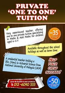 home tuition advertisement templates one to one tuition bandar baru bangi kajang