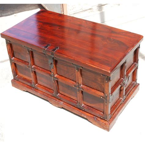 rustic solid wood chest blanket box storage coffee