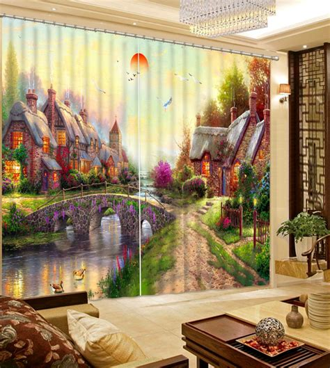 curtains for living room shopping shop european photo curtains architectural painting drapes nurani