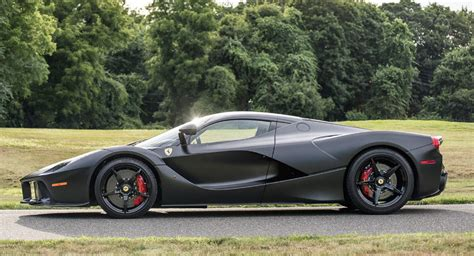 Ferrari Laferrari Back by Satin Black Laferrari Sells For Record 4 7 Million At Auction