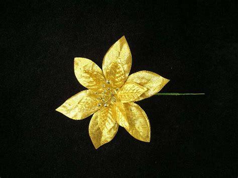 hessian gold poinsettia picks gold poinsettia
