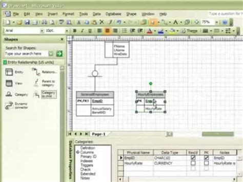 erd with visio visio erd part 1