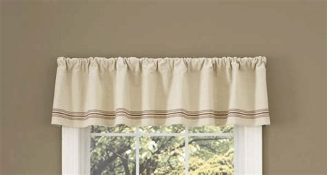 country curtain valance farm house barn striped