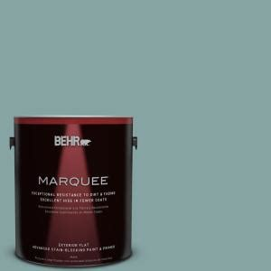 behr marquee 1 gal ppu13 8 venus teal flat exterior paint 445401 the home depot