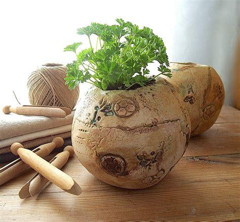 Handmade Planters - handmade sculptural garden planter by brick house