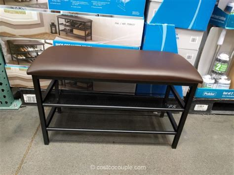 bench costco shoe organizer bench