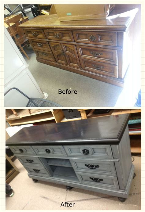 painted tv cabinet ideas ugly dresser turned fabulous entertainment center www