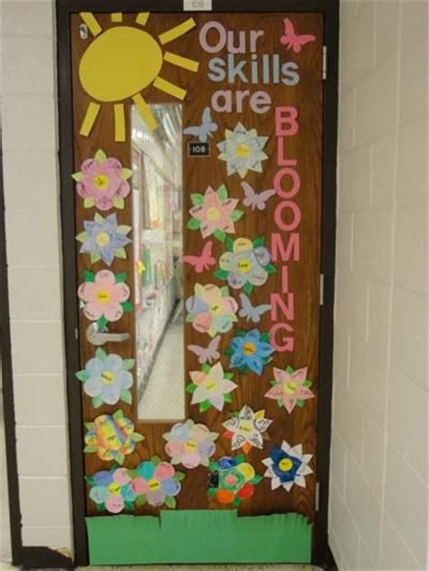 door decorations for spring spring classroom door decorations